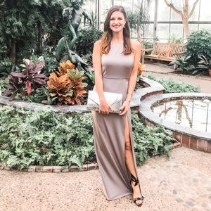 Lovers + Friends grey gown